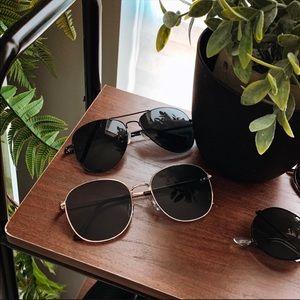 black aviator sunglasses 669712